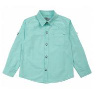 20-82105 Рубашка для мальчика, 2-5 лет, бирюза
