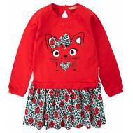 20-8359 Платье для девочки, фуллайкра, 2-6 лет, красный