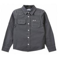 20-8364b Рубашка для мальчика, поплин, 6-10 лет, серый