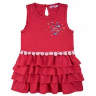 20-84501 Платье для девочки, 2-5 лет, бордовый