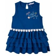 20-84502 Платье для девочки, 2-5 лет, синий