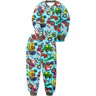 """20-955-111 """"Car"""" Пижама утепленная для мальчика, 7-10 лет, т. голубой"""