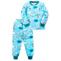"20-955-112 ""The Plane"" Пижама утепленная для мальчика, 7-10 лет, голубой"