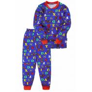 """20-955-113 """"Moto"""" Пижама утепленная для мальчика, 7-10 лет, электрик"""