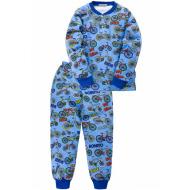 "20-955-114 ""Bike"" Пижама утепленная для мальчика, 7-10 лет, синий"
