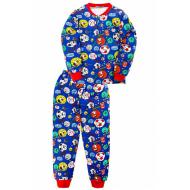 "20-955-115 ""Ball"" Пижама утепленная для мальчика, 7-10 лет, т. синий"