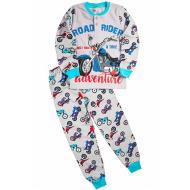 "20-95511 ""Байк"" Пижама утепленная для мальчика, 7-10 лет, меланж"