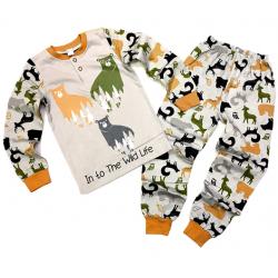 """20-95512 Wild Life"""" Пижама утепленная для мальчика, 7-10 лет"""