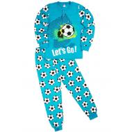 "20-95515 ""Football"" Пижама утепленная для мальчика, 7-10 лет, бирюза"