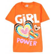 15-8120201 Футболка для девочек, 8-12, оранжевый