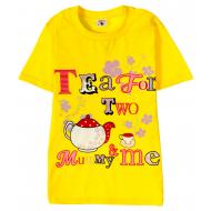 15-8120204 Футболка для девочек, 8-12, желтый
