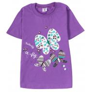 15-8120210 Футболка для девочек, 8-12, фиолетовый