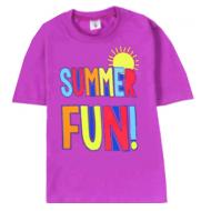 """15-140211 """"Summer Fun"""" футболка, 1-4 года, сиреневый"""