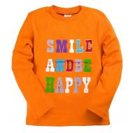 15-581104  Лонгслив детский, 5-8 лет, оранжевый