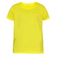 17-030123 Футболка однотонная, желтый