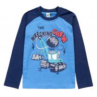 17-251855 Лонгслив для мальчика, 2-5 лет, синий