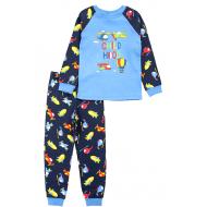 17-25132331 Пижама для мальчика, интерлок, 2-5, голубой