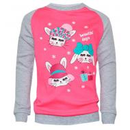 17-2512318 Свитшот для девочки, 2-5 лет, розовый