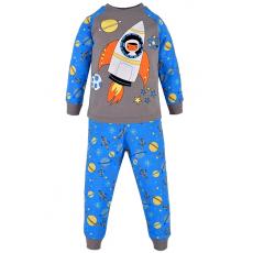 17-2513223 Пижама для мальчика, 2-5 лет, серый\голубой
