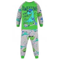 17-2513224 Пижама для мальчика, интерлок, 2-5 лет, зеленый