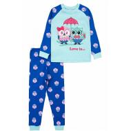 17-2513227 Пижама для девочки, интерлок, 2-5, мятный