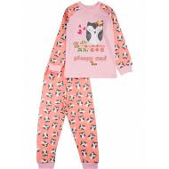 17-2513236 Пижама для девочки, интерлок, 2-5, персиковый