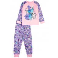 17-2513237 Пижама для девочки, интерлок, 2-5, св-розовый
