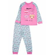 17-2513238 Пижама для девочки, интерлок, 2-5, розовый