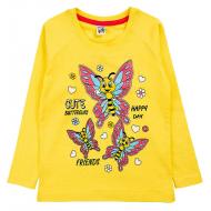 17-2518510 Лонгслив для девочки, 2-5 лет, желтый