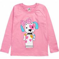 17-2518512 Лонгслив для девочки, 2-5 лет, розовый