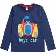 17-2518520 Лонгслив для мальчика, 2-5 лет, т-синий