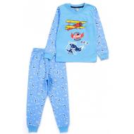 17-2518711 Пижама для мальчика, кулир, 2-5 лет, св-голубой