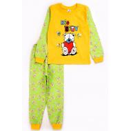 17-2518712 Пижама для мальчика, кулир, 2-5 лет, желтый