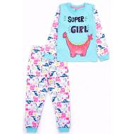 17-6918714 Пижама для девочки, кулир, 6-9 лет, бирюза
