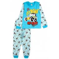 17-6918715 Пижама для мальчика, кулир, 2-5 лет, св-бирюзовый