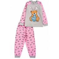 17-251872 Пижама для девочки, 2-5 лет, меланж/розовый