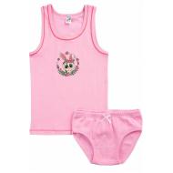 17-36163-1 Комплект майка-трусы, 3-6 лет, розовый