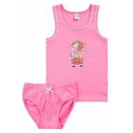 17-36163-5 Комплект майка-трусы, 3-6 лет, т-розовый