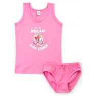 17-3716304 Комплект для девочки, 3-7 лет, розовый