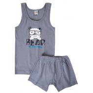 17-3712911 Комплект для мальчика, 3-7 лет, серый