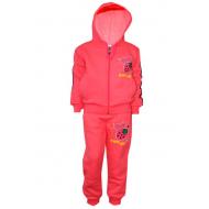 17-371782 Спортивный костюм для девочки с начесом, 3-7 лет, коралловый
