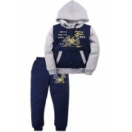 17-371783 Спортивный костюм для мальчика с начесом, 3-7 лет, т-синий