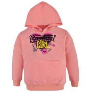 17-58184 Толстовка с капюшоном для девочки,5-8 лет, персиковый