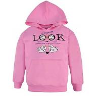 17-581841 Толстовка с капюшоном для девочки, 5-8, розовый