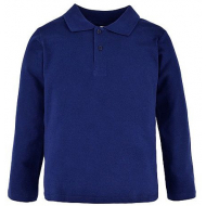 17-610125 Рубашка-поло для мальчика , пике 6-10 лет, т-синий