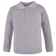 17-6101251 Рубашка-поло для мальчика , пике 6-10 лет, меланж