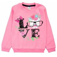 17-691236 Свитшот для девочки, 6-9 лет, розовый