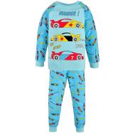 17-6913225 Пижама для мальчика, рибана, 6-9 лет, мята
