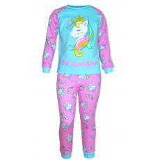 17-6913229 Пижама для девочки, рибана, 6-9 лет, мятный