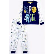 17-6918716 Пижама для мальчика, кулир, 6-9 лет, синий